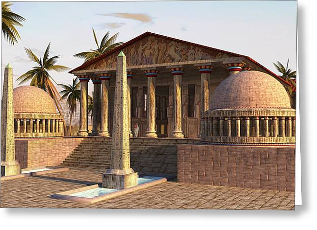 Caesareum Temple Ancient Alexandria Greeting Card by Don Dixon