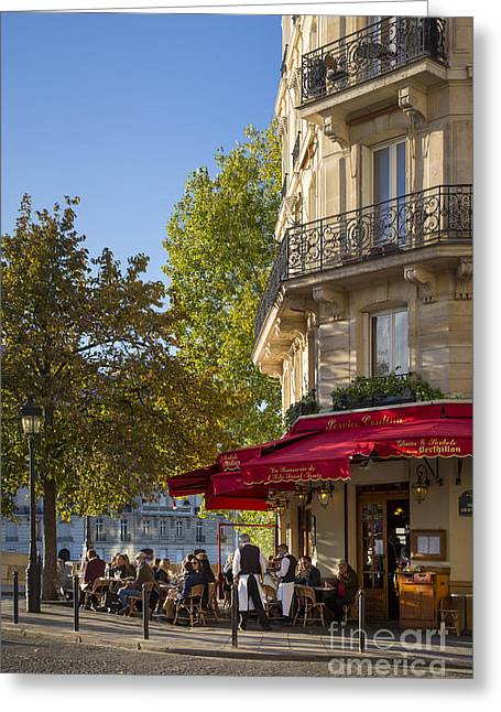 Cafe - Ile Saint-louis - Paris Greeting Card