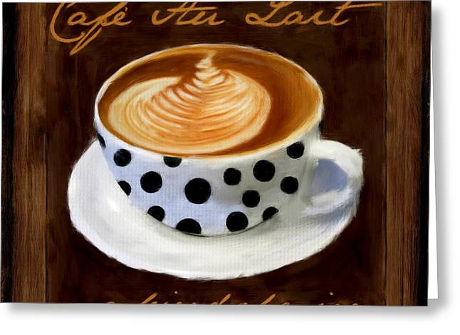 Cafe Au Lait Greeting Card by Lourry Legarde