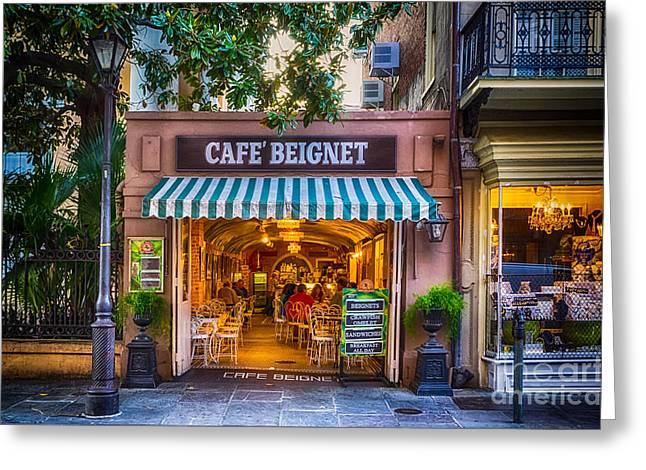 Cafe Beignet Morning Nola Greeting Card