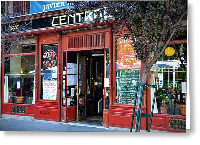 Cafe Central In Madrid Greeting Card by RicardMN Photography