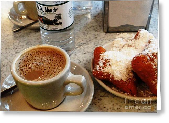 Cafe Du Monde Afternoon Greeting Card