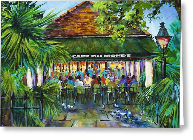 Cafe Du Monde Morning Greeting Card