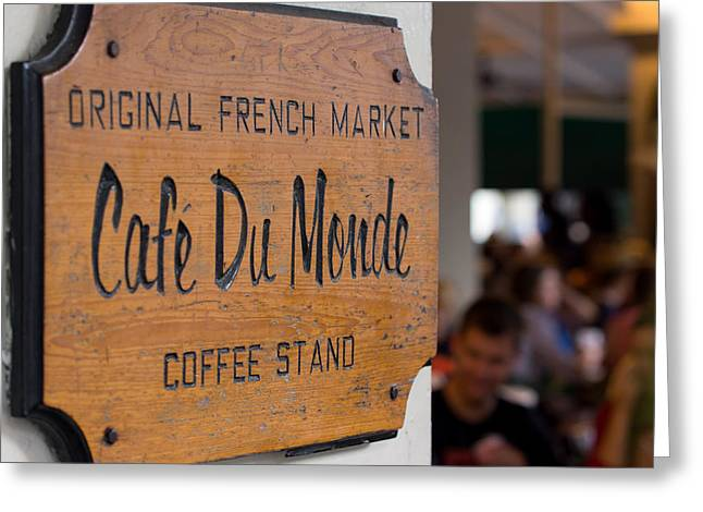 Cafe Du Monde Sign Greeting Card