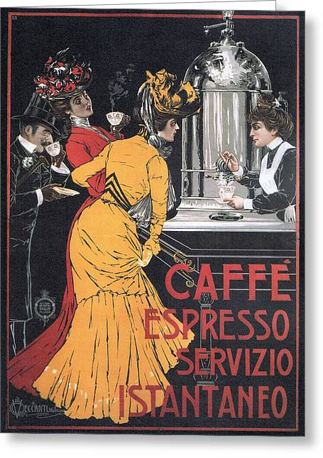 Cafe Espresso Greeting Card by Charlie Ross