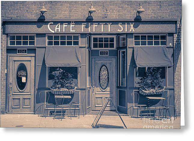 Cafe Fifty Six Middletown Connecticut Greeting Card by Edward Fielding