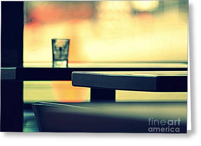 Cafe II Greeting Card by A K Dayton
