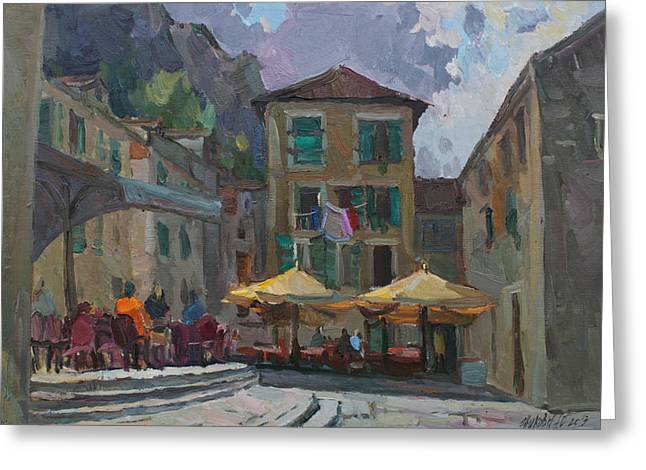 Cafe In Old City Greeting Card
