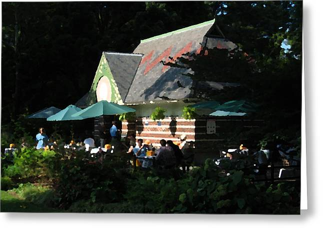 Cafe In The Trees Greeting Card