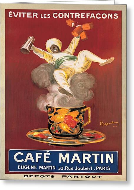 Cafe Martin 1921 Greeting Card by Leonetto Cappiello