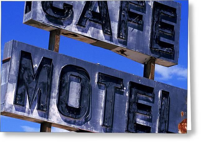 Cafe Motel Greeting Card