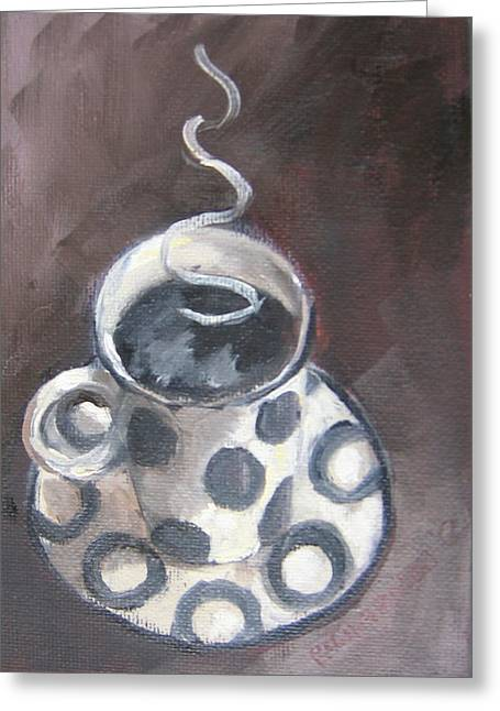 Cafe Noir Greeting Card by Susan Richardson