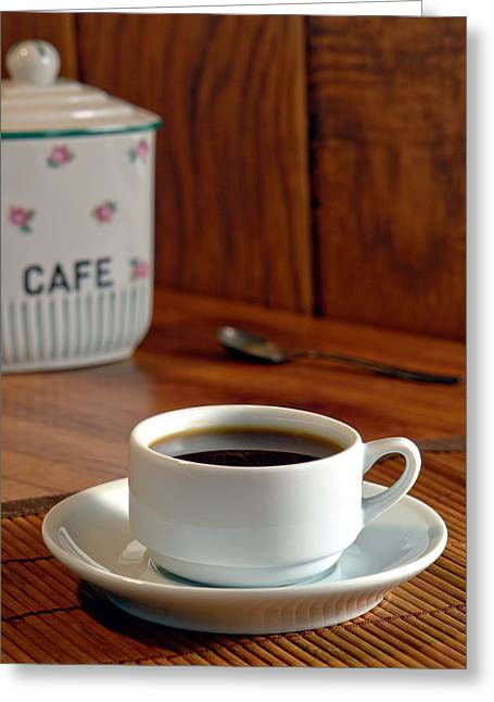 Cafe Greeting Card by Olivier Le Queinec