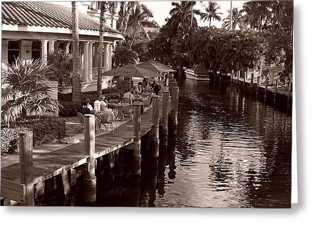 Greeting Card featuring the photograph Cafe Outdoors by Lorenzo Cassina