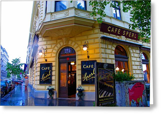 Cafe Sperl Vienna Greeting Card