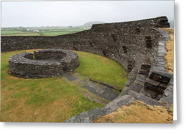 Cahergall Stone Fort Greeting Card by Sinclair Stammers