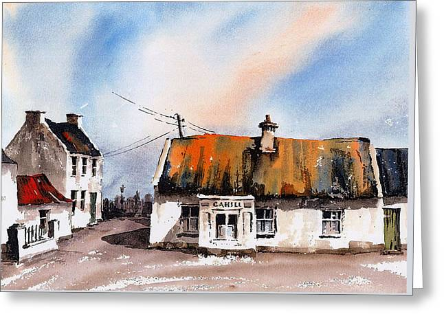 Cahill's Thatched Pub Galmoy Kilkenny Greeting Card