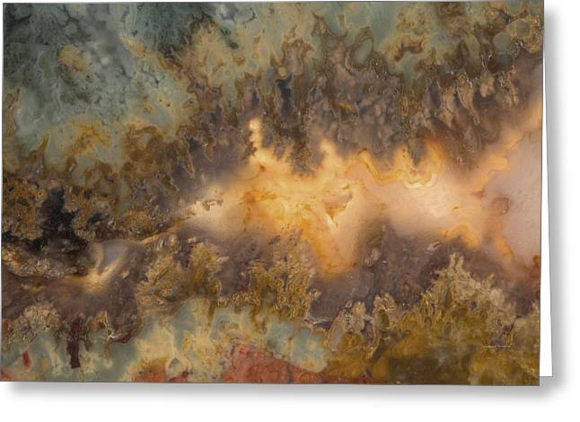 Cahllis Volcanics Agate Greeting Card by Leland D Howard