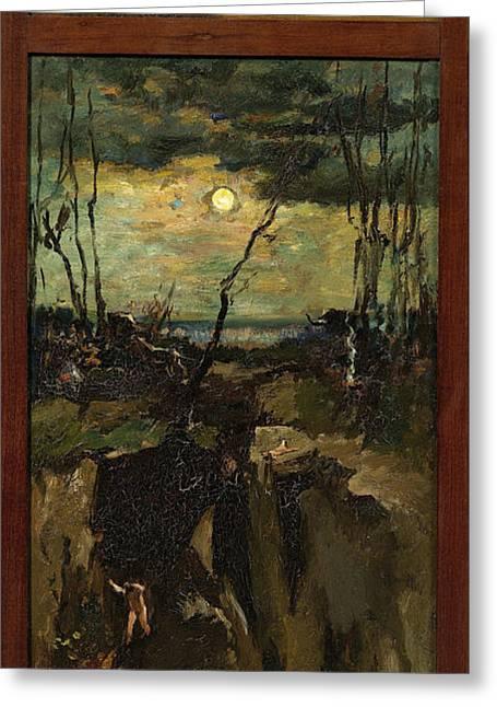Cain And Abel, Willem De Zwart Greeting Card