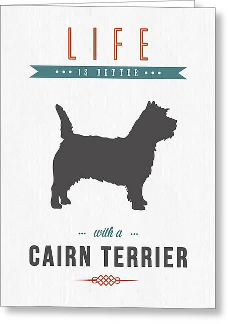 Cairn Terrier 01 Greeting Card by Aged Pixel