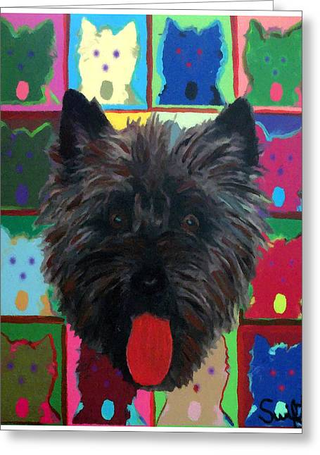 Cairn Terrier Greeting Card by Char Swift