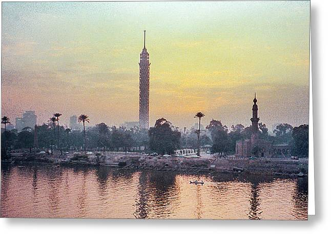 Cairo And The Nile Greeting Card