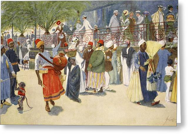 Cairo Curios; Or, The Shepheards Flock Greeting Card