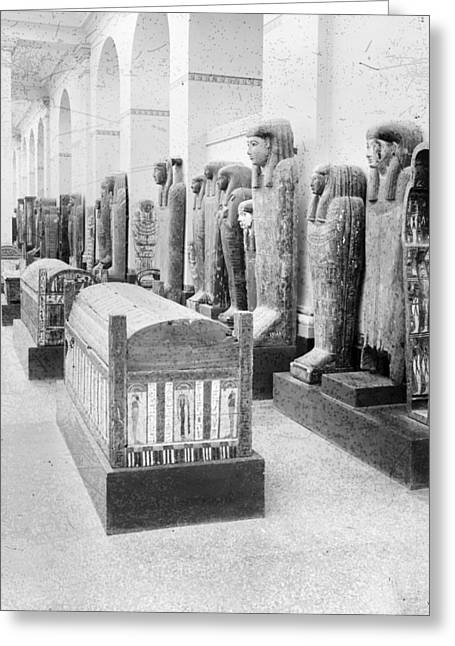 Cairo Egyptian Mummies Greeting Card by Granger