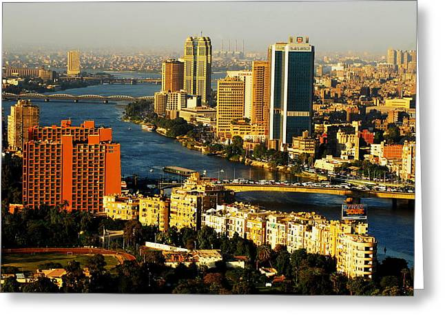 Cairo From Above Greeting Card by Chaza Abou El Khair