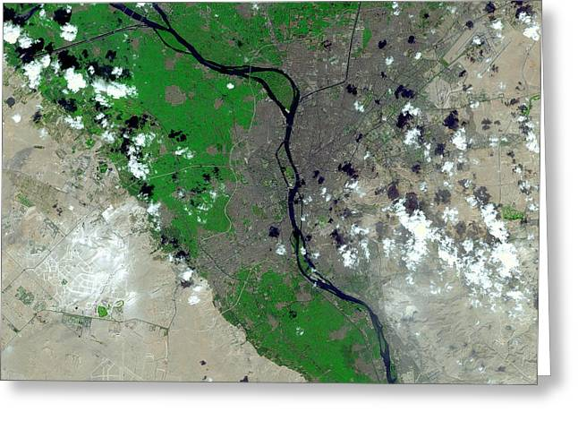 Cairo Greeting Card by Nasa/gsfc/meti/japan Space Systems/u.s.,japan Aster Science Team
