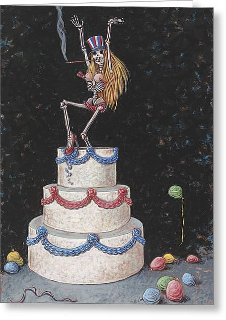 Cake Greeting Card by Holly Wood