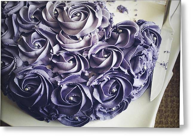 Cake Greeting Card by Les Cunliffe