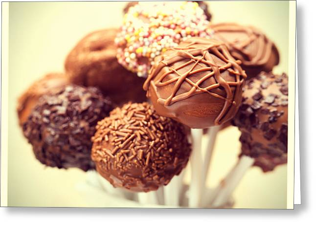 Cake Pops Retro Photo Greeting Card