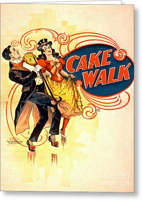 Cake Walk 1898 Greeting Card by Padre Art