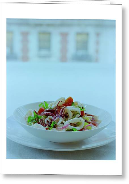 Calamari Salad Greeting Card