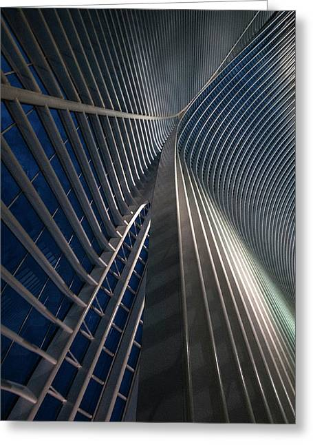 Calatrava Lines At The Blue Hour Greeting Card by Jef Van Den