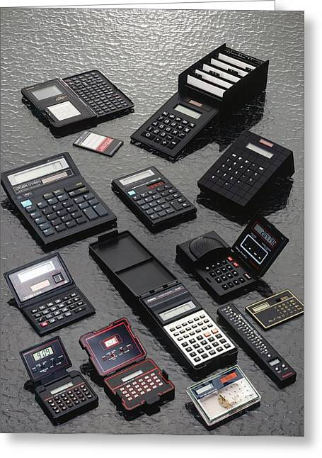 Calculators Greeting Card by Ton Kinsbergen