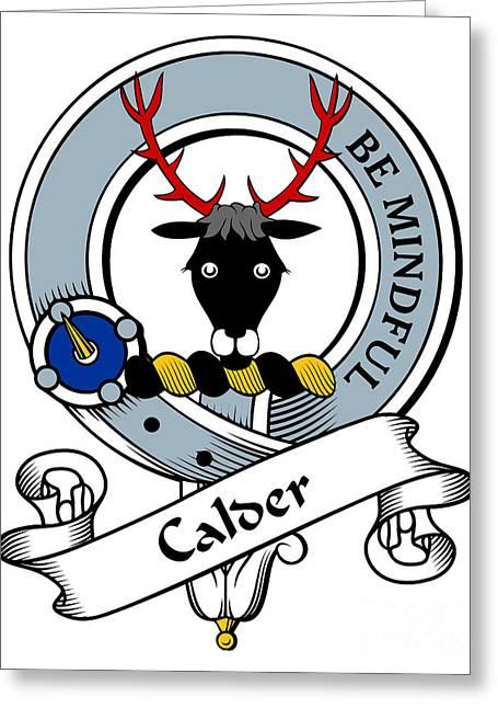 Calder Clan Badge Greeting Card by Heraldry