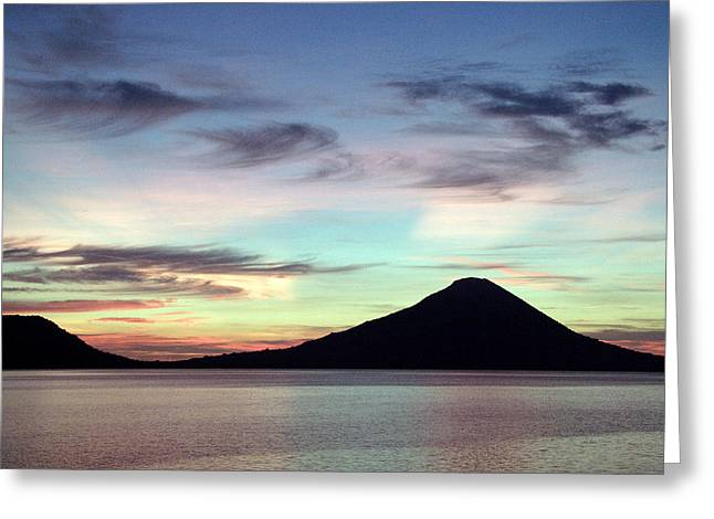 Caldera Sunset Greeting Card by Paula Marie deBaleau