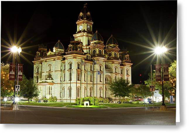 Caldwell Co Courthouse In Lockhart Greeting Card