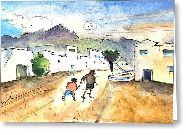 Caleta De Famara 02 Greeting Card by Miki De Goodaboom