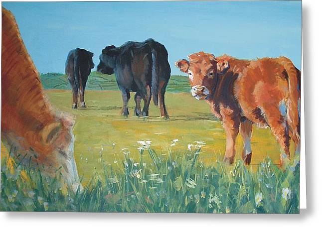 Calf Painting Greeting Card