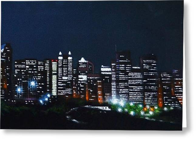 Calgary Canada No Moon Greeting Card