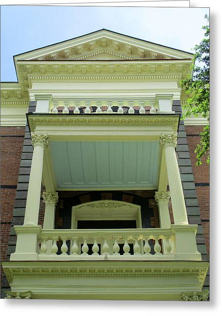 Calhoun Mansion Balcony Greeting Card
