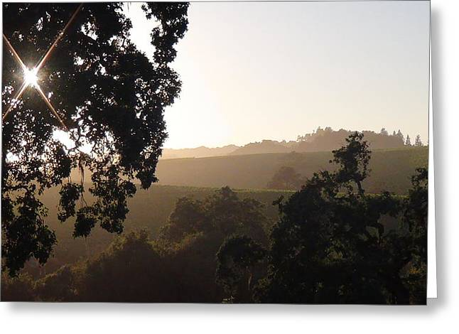 Greeting Card featuring the photograph Cali Sun Set by Shawn Marlow