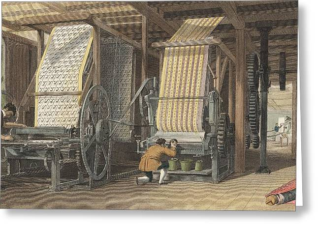 Calico Printing Machines Greeting Card by Universal History Archive/uig