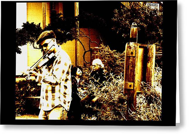 California Street Music Greeting Card by Joseph Coulombe