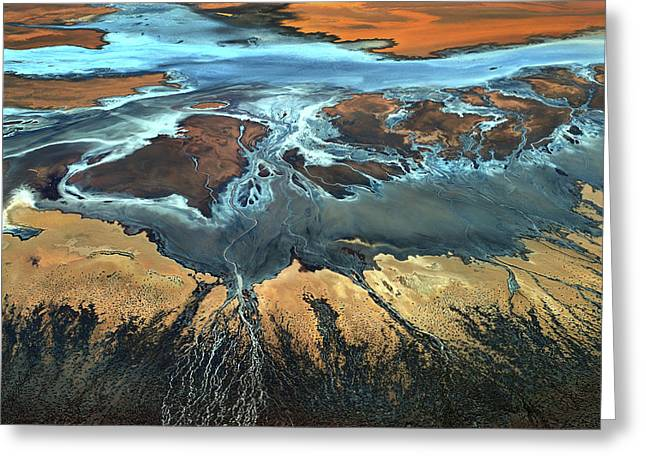 California Aerial - The Desert From Above Greeting Card
