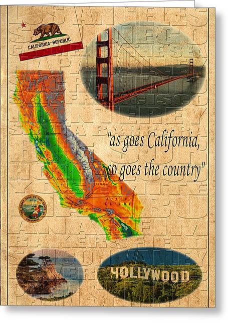 California Greeting Card by Andrew Fare