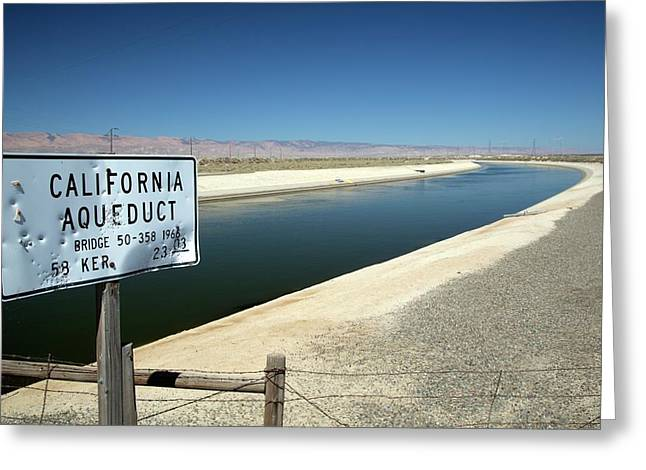 California Aqueduct Greeting Card by Jim West